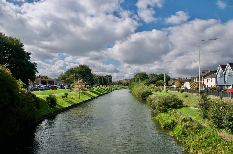 Canal landscape at Hythe. Hythe  county of Kent England  United Kingdom Europe stock image