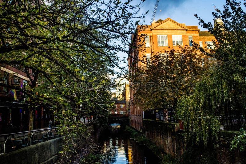 Canal Manchester de Rochdale fotografia de stock