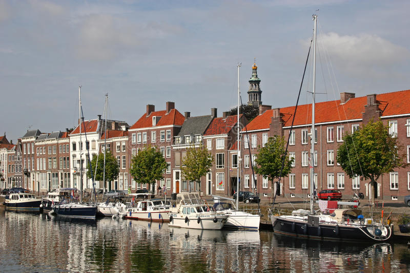 Canal, Middelburg fotos de stock royalty free