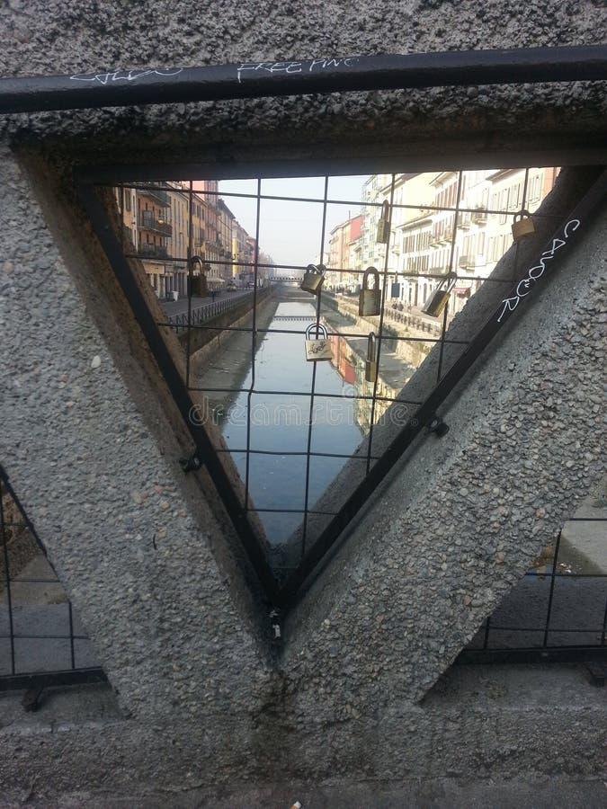 Canal MILANO,Italy stock photography