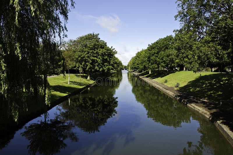 Canal militar real, Hythe fotografia de stock