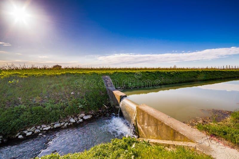 Canal moderne d'irrigation photos libres de droits
