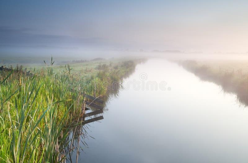 Canal na terra holandesa imagem de stock
