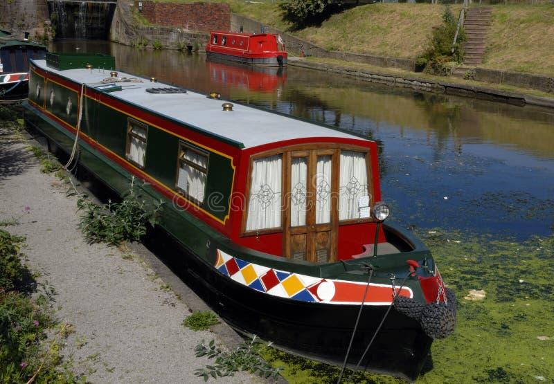 Canal Narrowboats stock photos