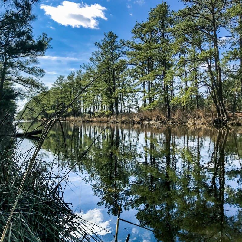 Canal no litoral de Delaware fotos de stock royalty free