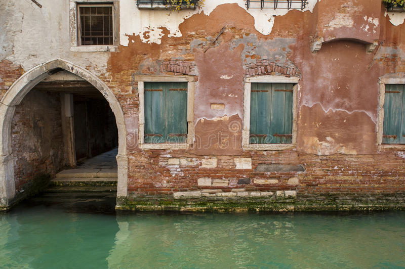 Canal And Old Buildings, Venice, Italy Stock Photo - Image ...
