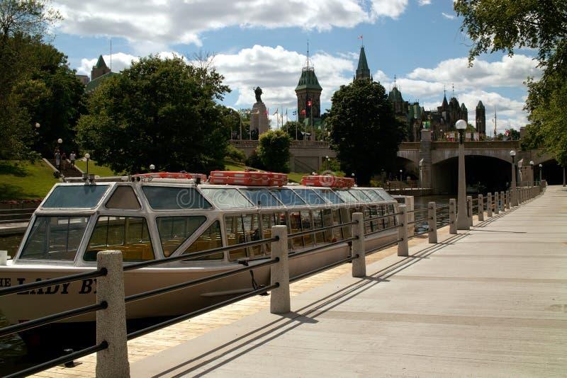 Canal Ottawa Ontário Canadá de Rideau fotografia de stock royalty free