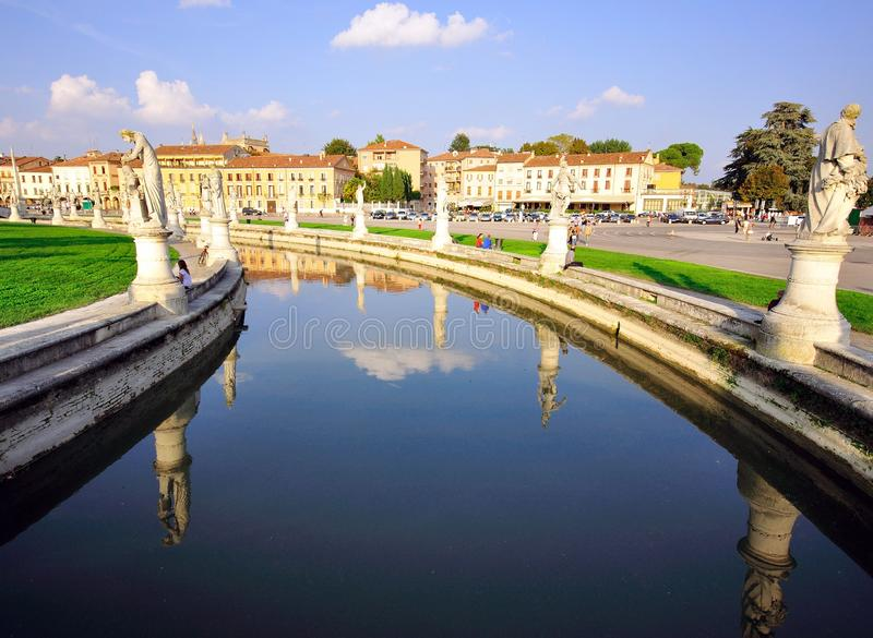 Canal of Padova, Italy. View of canal of Padova, Italy royalty free stock images
