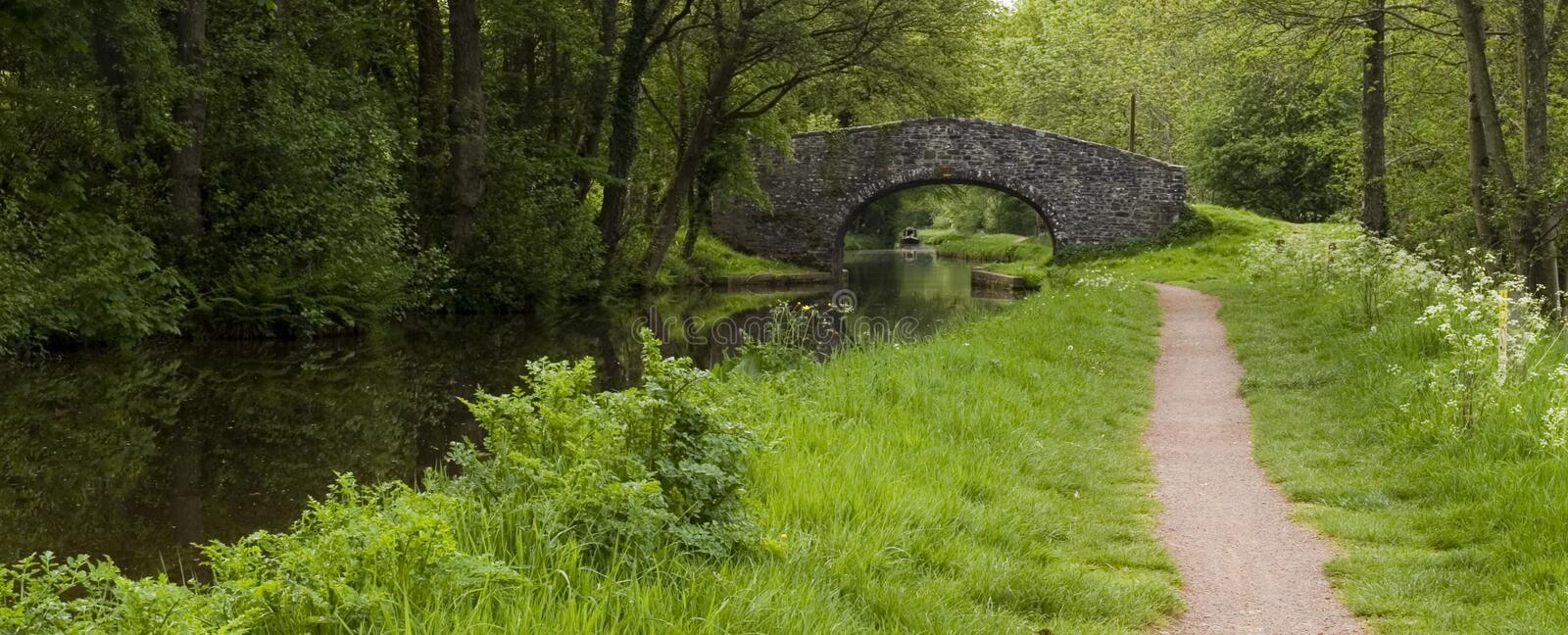 Canal path stock image