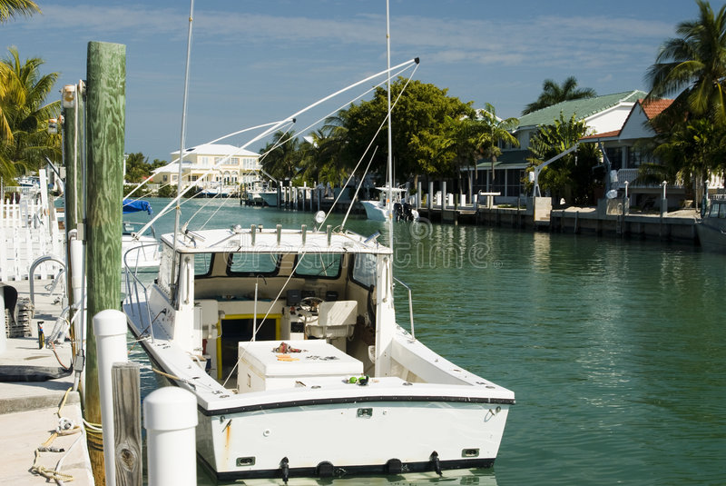 Canal And Residences Florida Keys Stock Photos