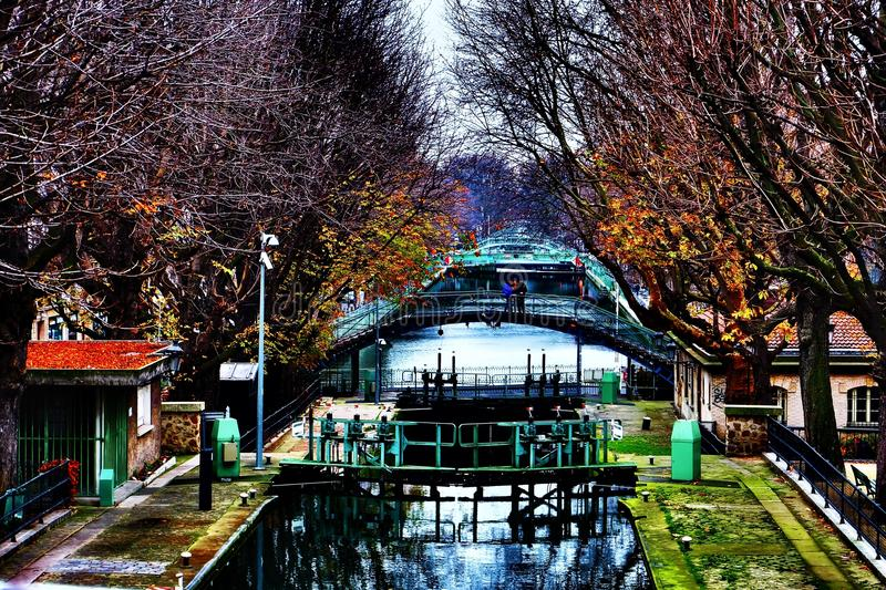 Canal San Martín imagenes de archivo