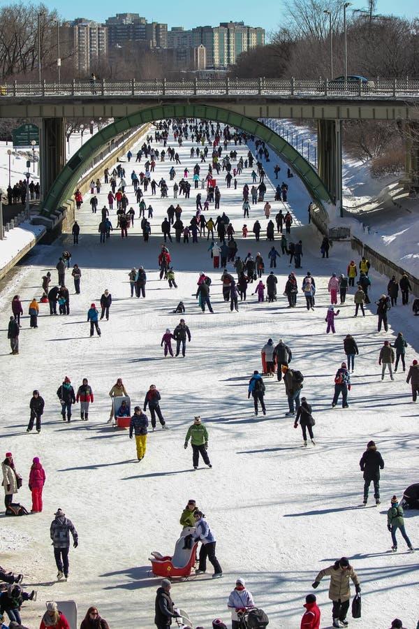Canal Skateway de Rideau fotos de archivo