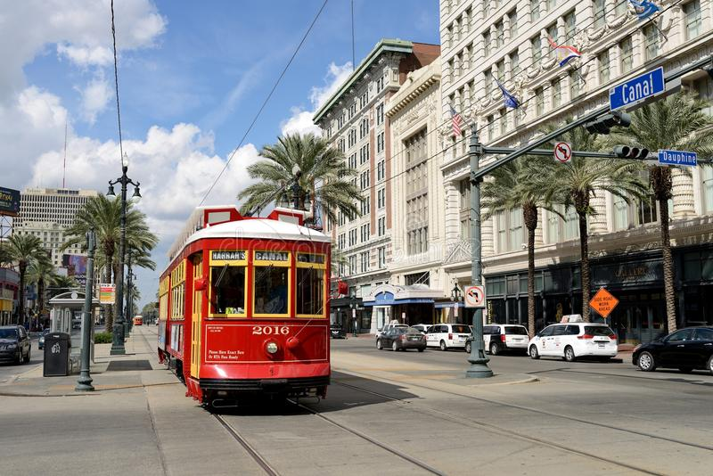 Canal Streetcars of New Orleans stock photo