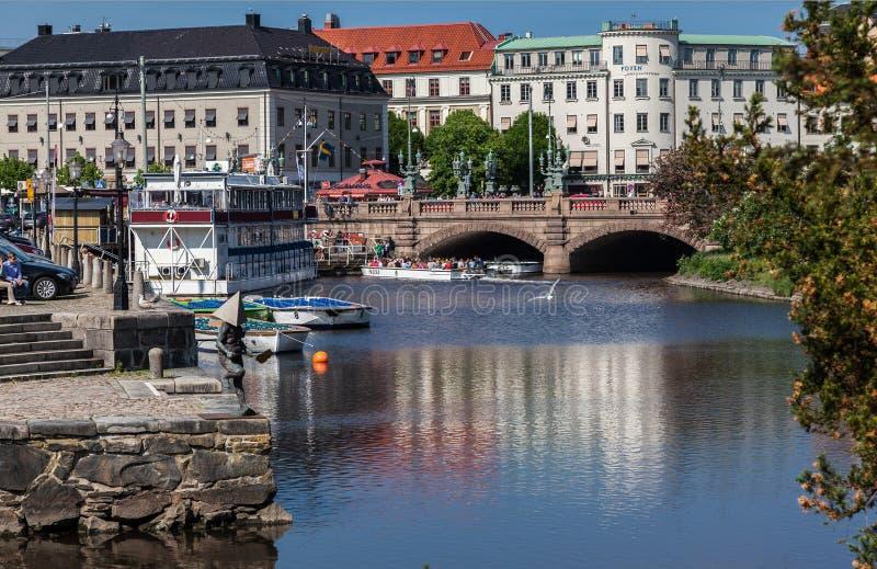 Canal Suède de Gothenburg image libre de droits