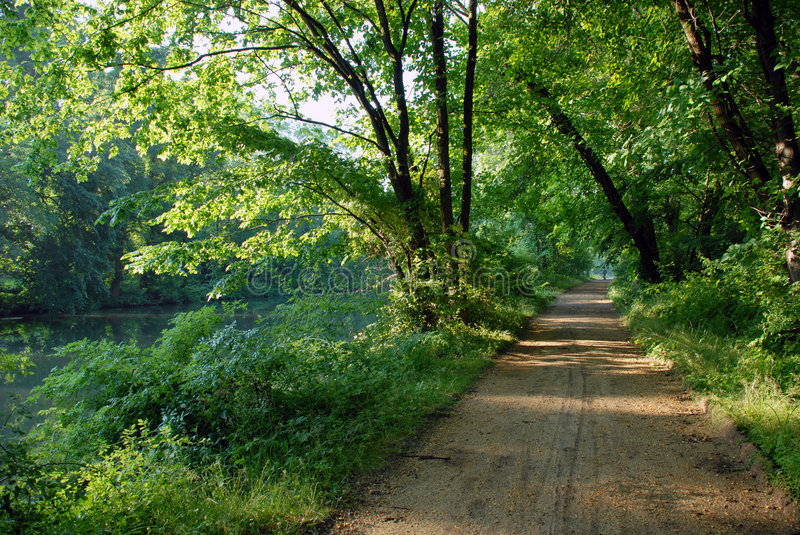 Canal trail royalty free stock photo