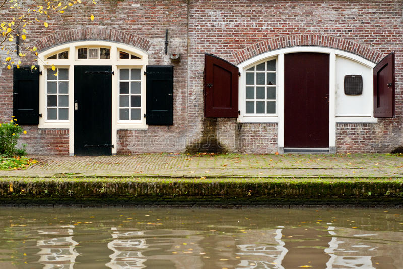Canal in utrecht. Picturesque canal in utrecht the netherlands stock photography