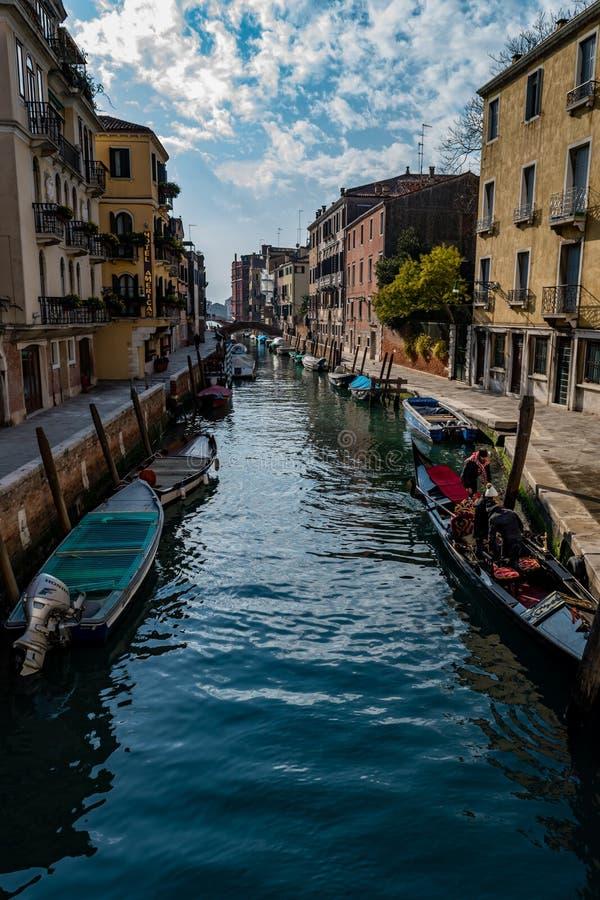 Canal, Venecia, Italia foto de archivo libre de regalías