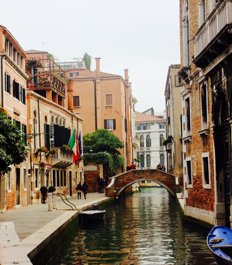 Canal Venetian fotografia de stock
