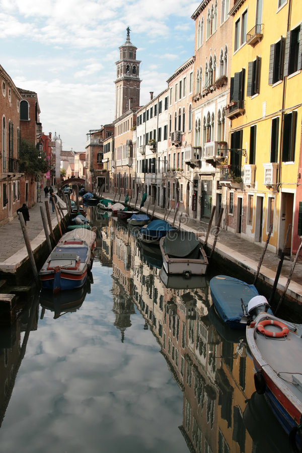 Download A canal of Venice stock photo. Image of venedig, landscape - 4281778