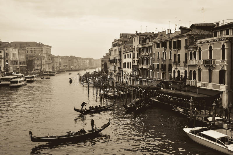 A Canal in Venice stock images