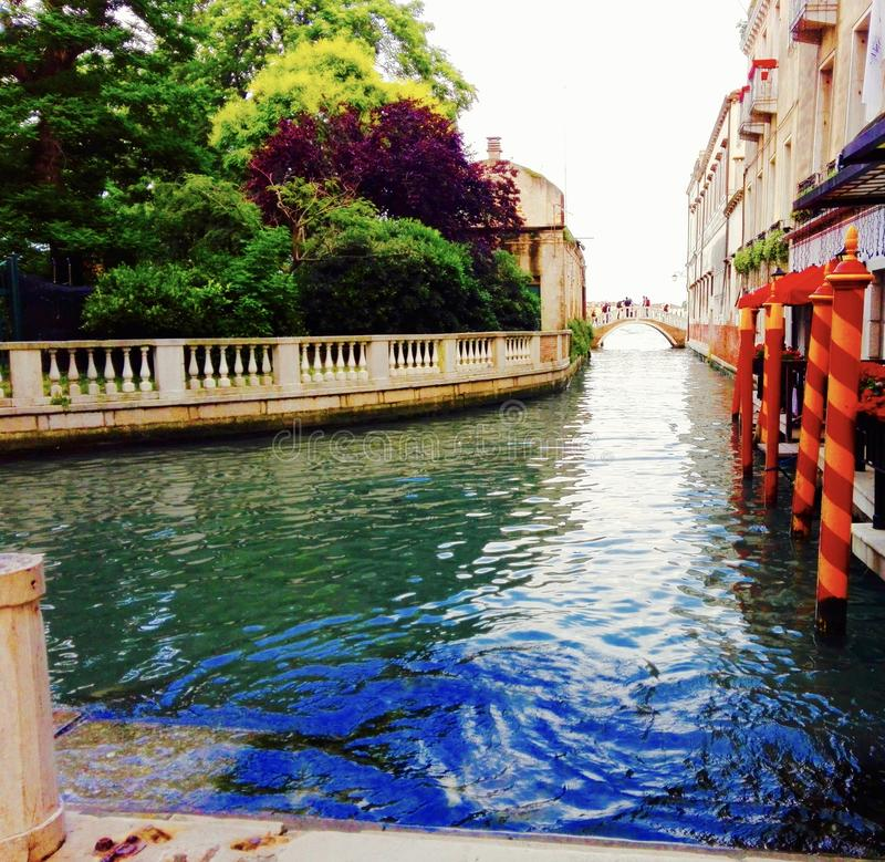 A canal in Venice stock photography