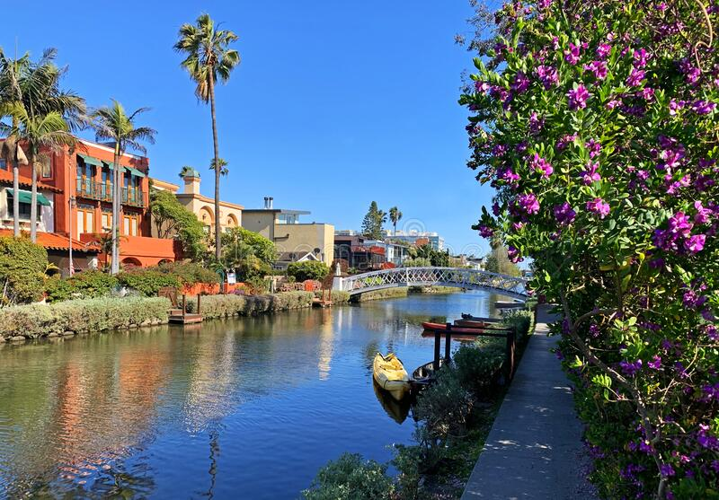 Canal view, Venice, California royalty free stock photos