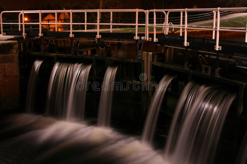 Canal water lock royalty free stock image