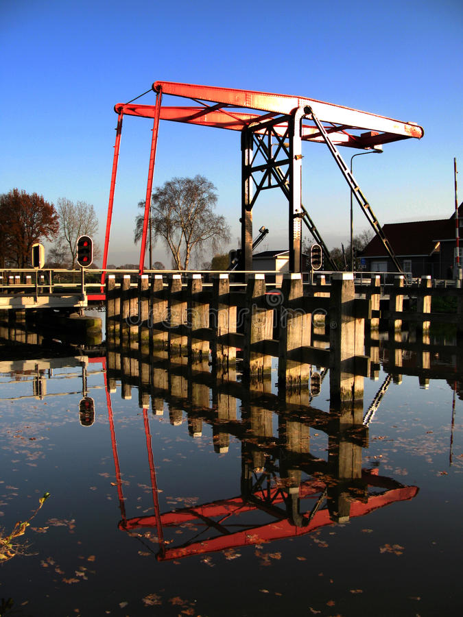 Canal or waterway locks. Lock mechanism controlling water levels along a canal or waterway royalty free stock photos