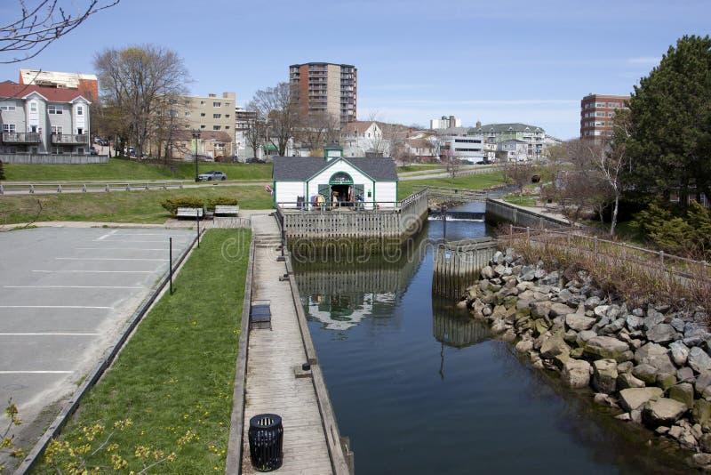 Canal y Portland en Dartmouth foto de archivo