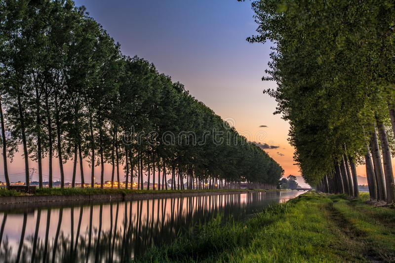 Canale Cavour photographie stock