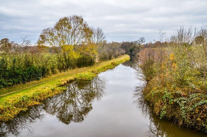 Canale Cheshire England di Macclesfield immagine stock libera da diritti