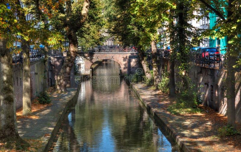 Canale classico di Utrecht immagine stock libera da diritti