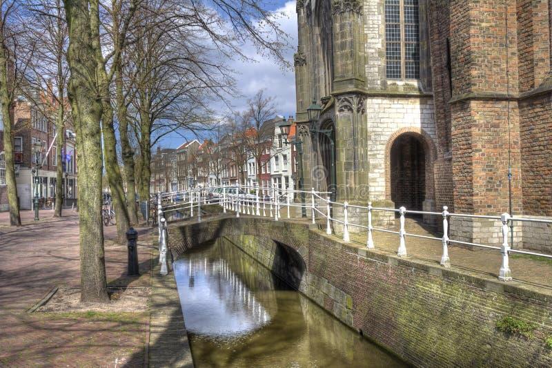Canale a Delft, Olanda immagine stock libera da diritti