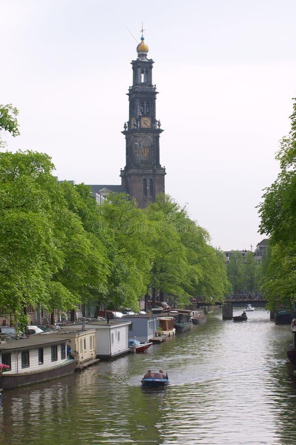 Canale di Amsterdam fotografia stock libera da diritti