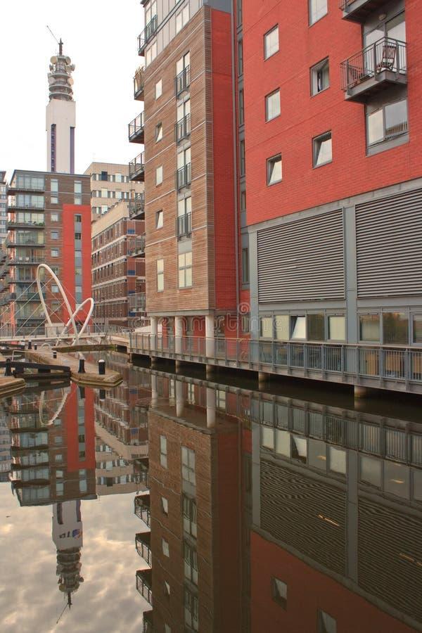 Canale di Birmingham fotografia stock