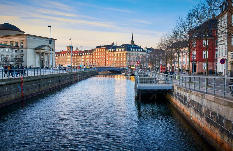 Canale di Copenhaghen, Danimarca fotografia stock
