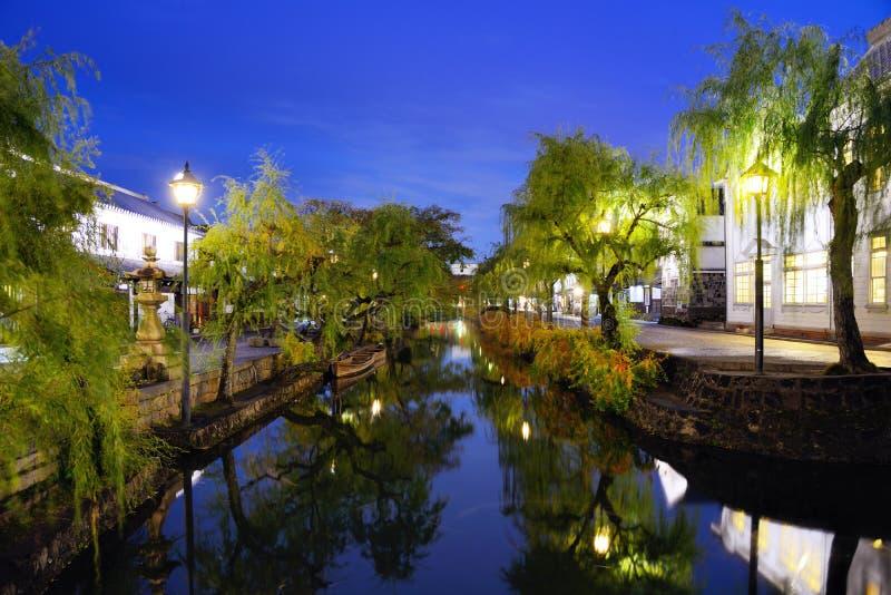 Canale di Kurashiki, Giappone immagine stock