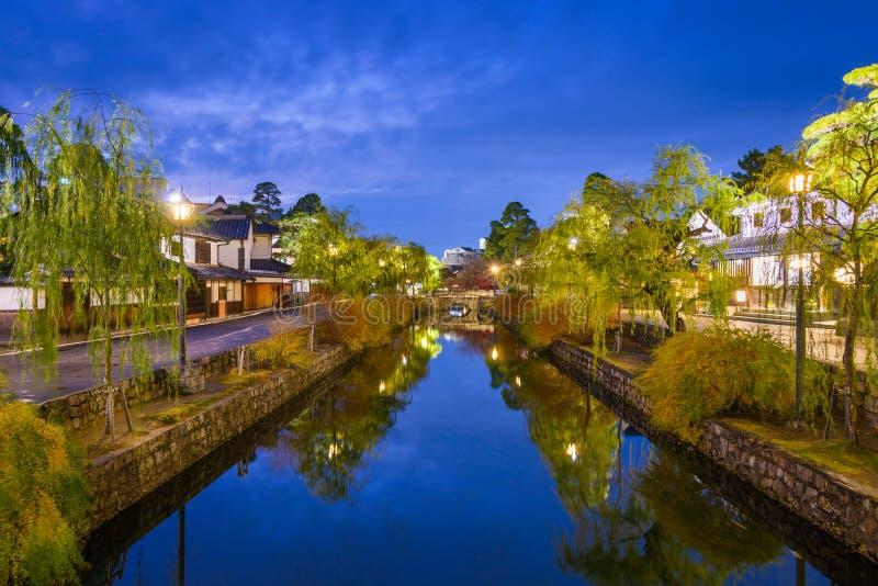 Canale di Kurashiki nel Giappone fotografia stock libera da diritti