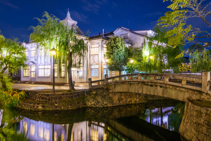 Canale di Kurashiki nel Giappone fotografia stock