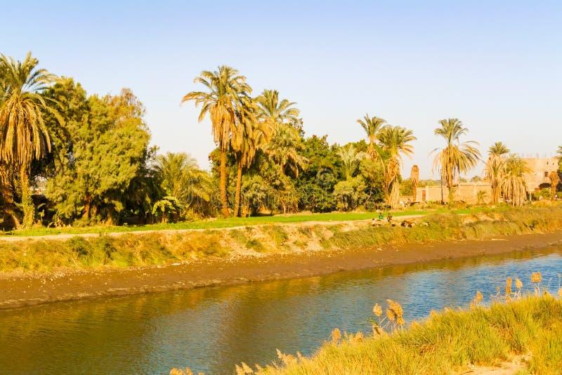 Canale di Nilo immagine stock