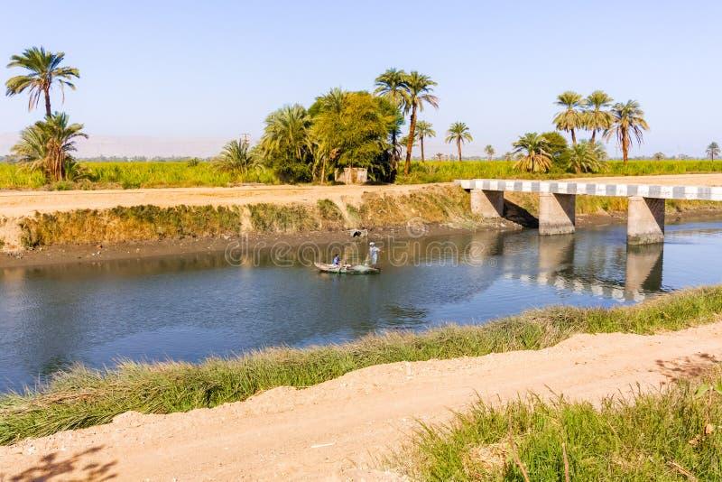 Canale di Nilo fotografia stock libera da diritti