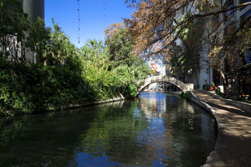 Canale di San Antonio, TX immagini stock