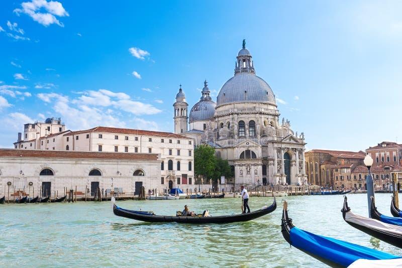 Canale Di Santa Maria della Salute, Venezia della basilica e grandi fotografia stock libera da diritti