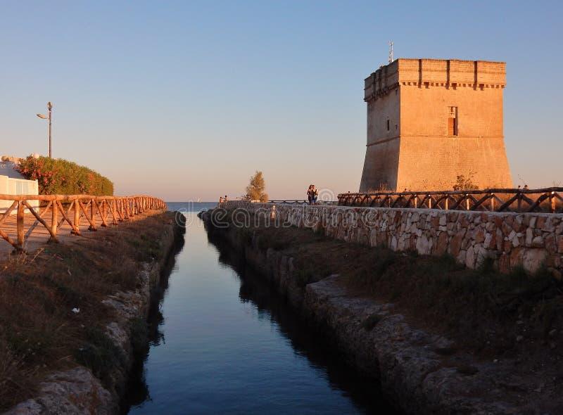 Canale di Torre Chianca royalty-vrije stock foto