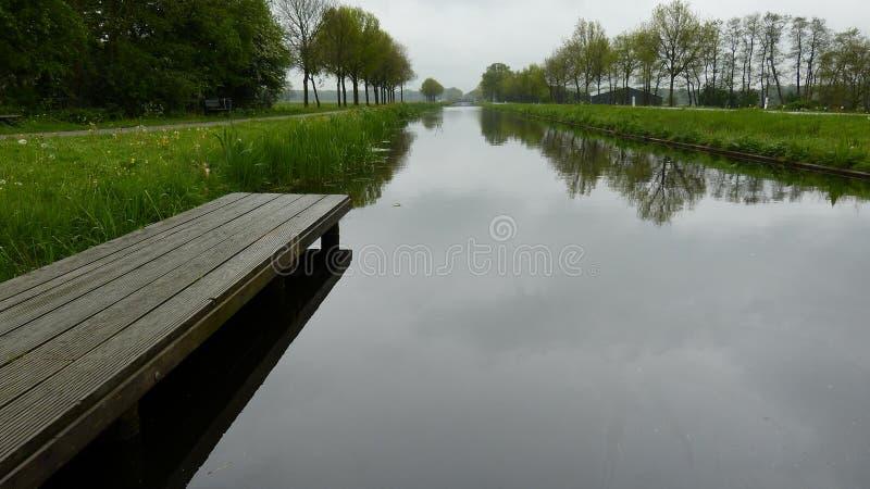 Canale in Frisia immagine stock libera da diritti