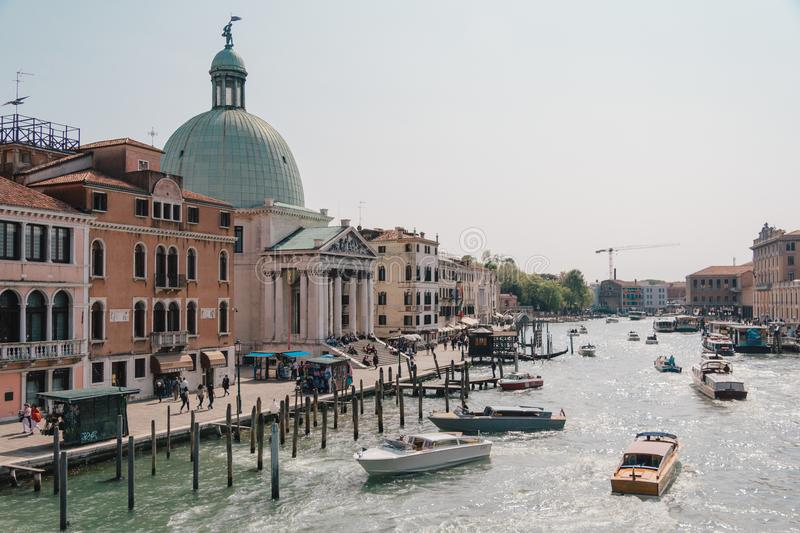 Canale grandioso em Veneza fotos de stock