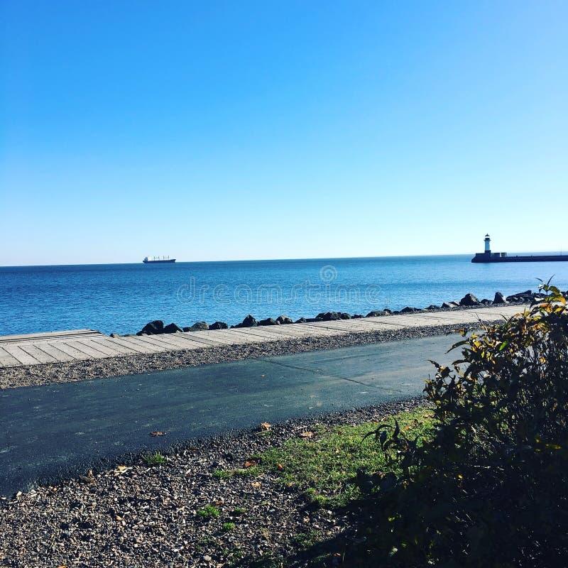 Canale marittimo del lago Superiore fotografia stock