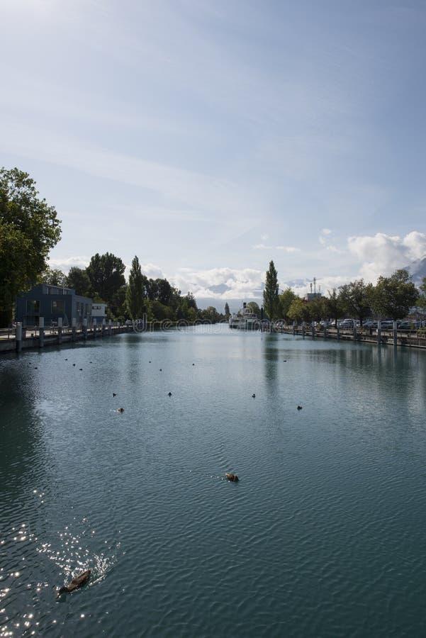 Canale marittimo di Thun immagine stock