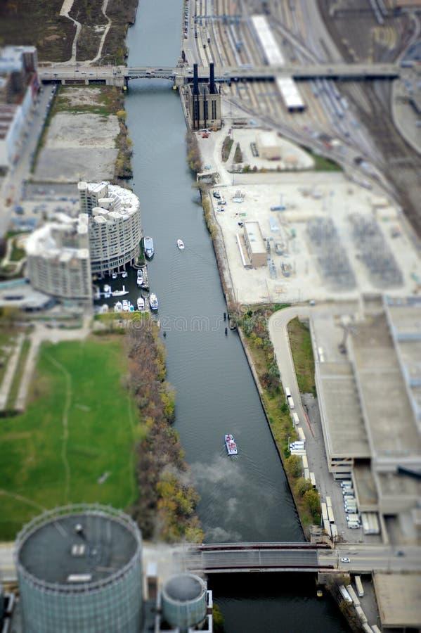 Canale navigabile di Chicago immagine stock