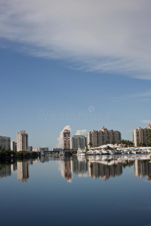 Canale navigabile Intracoastal piede Lauderdale immagini stock libere da diritti